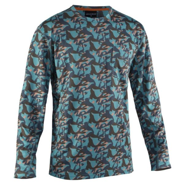Fishhead Lshirt Camo Turquoise A 1024x1024
