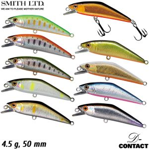 Vobleris Smith D-Contact 50, 50 mm, 4.5 gr/foreļu spiningošana/stream fishing/trout fishing/māneklis/stream lures/perch lure/foreļu vobleris